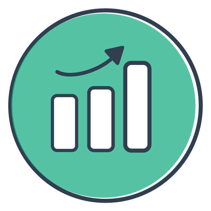 Publish engaging reports with our graphing feature - select from pies, bars or line charts. All you need to do is paste the data from a spreadsheet and select a style. Micro-animations ensure colleagues stay engaged with the data.