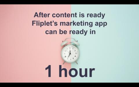 Fliplet marketing app ready in 1 hour