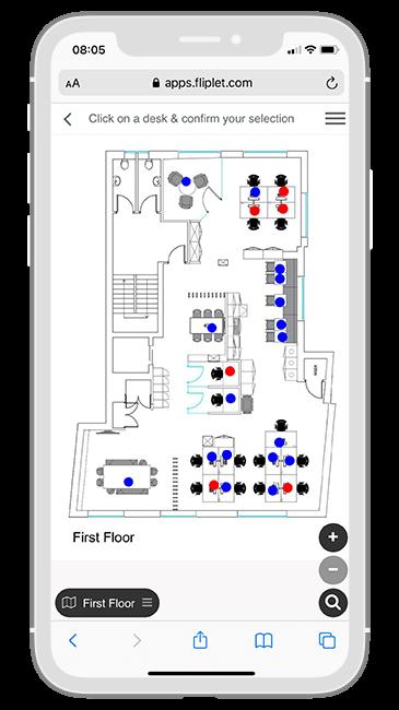 Macfarlanes Return to Office app - Floorplan