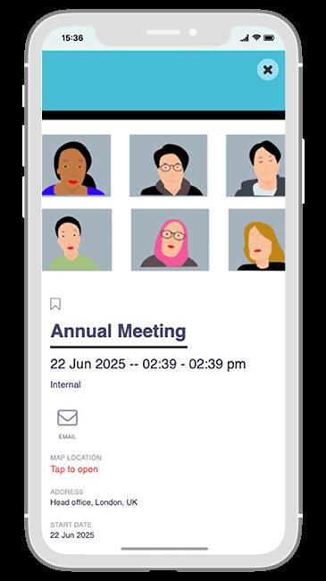 Communication Solution app - Event details