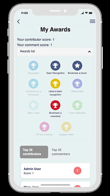 Communication Solution app - My awards